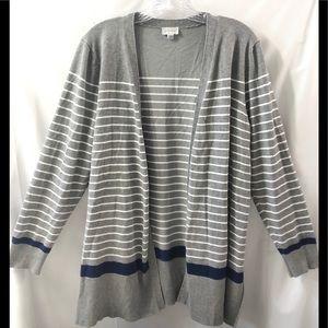 Avenue open light weight cardigan sweater EUC